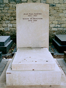 beauvoir sartre grave